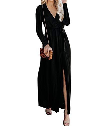 YOINS Damen Kleider Strandkleid Winterkleid Strickkleider für Damen Maxikleid Abendkleider Elegant Jerseykleider Weihnachtskleid Rundhals mit...