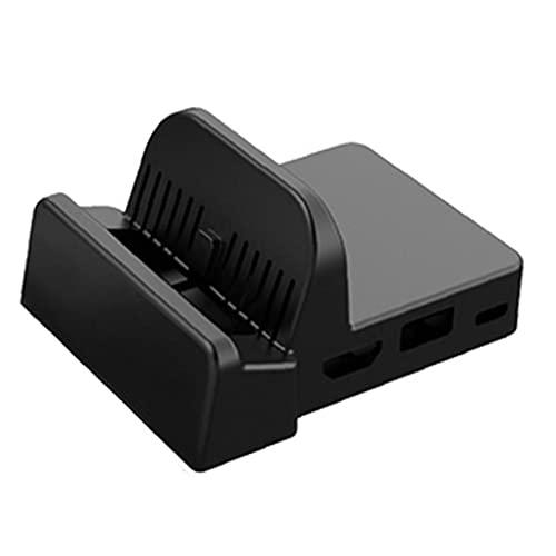 Estación de acoplamiento de TV portátil compatible con Soporte de enfriamiento de interruptor Nintend Black