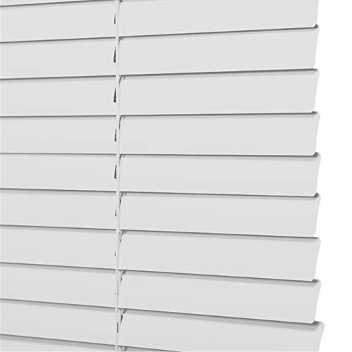 Persianas venecianas grises, Persianas venecianas de metal de aluminio, Protección contra luz y deslumbramiento para sala de estar / dormitorio / oficina, 60/75/90/105/120/135 cm de ancho