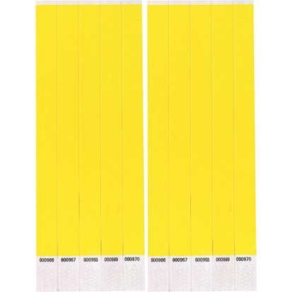Factory Card and Party Outlet Neon Yellow Paper Wristbands 500ct by