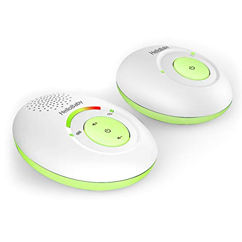 HelloBaby HB178 Audio Baby Monitor with up to 1,000 ft of Range, Sound Indicator, Digitized Transmission, One Way Audio