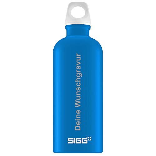 SIGG Trinkflasche e 0,6 Liter in Electric Blue | Leichte Wasserflasche aus Aluminium I BPA frei - Plastikfrei I Auslaufsicher und Kohlensäure geeignet I Sportflasche
