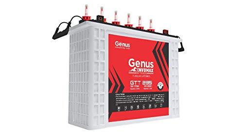 Genus Invomax GTT235 Tall Tubular 220 AH Best Inverter Battery for Home, Office or Solar Use, 60 Month Warranty