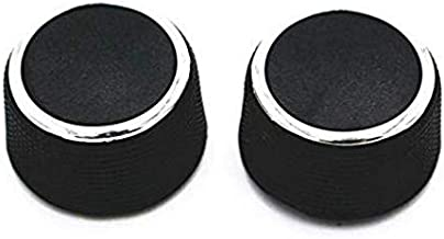 2 PCS Rear Radio Volume Knob Control Knob Dial Tuner for 2007-2013 Chevy Tahoe Chevrolet Silverado GMC Acadia Sierra Denali Yukon GM 22912547 Radio Repair Kit Replacement Button