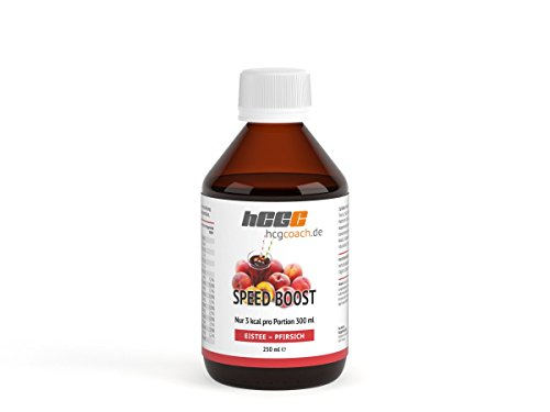 SpeedBoost - zuckerfreies Getränkekonzentrat | Eistee-Pfirsich (250 ml)