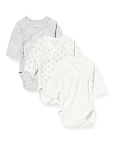 Petit Bateau 5650100 Conjunto de Ropa Interior para bebés y niños pequeños, Gris Blanco/Multico Blanco, Nacimiento