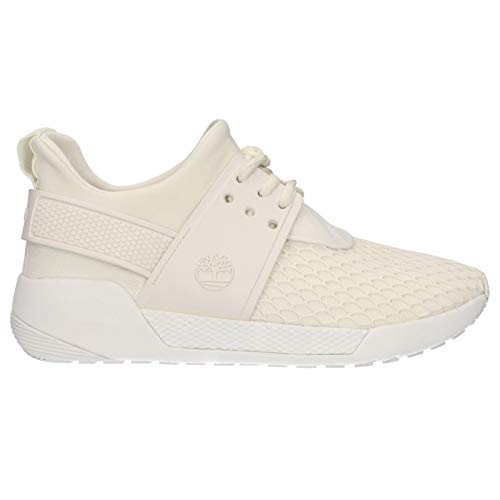Timberland A1Y5C Kiri Up KPU Net Oxford Damen Schnürschuhe Sneaker White Weiss, Groesse:39 (8 US)