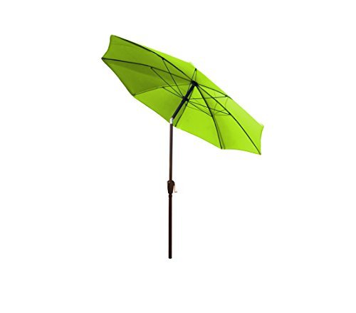 Dehner Sonnenschirm Kos, Ø 220 cm, Aluminium/Polyester, grün
