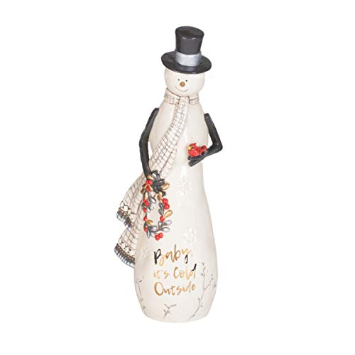 Fitz and Floyd Wintry Woods Collectible, Snowman Figurine -  Lifetime Brands Inc., 49-780
