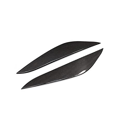 NMDNNJ Geeignet FüR Tesla Model 3 2017-2021, Auto Dekorative Leichte Augenbraue, Auto Scheinwerfer Augenbrauen Zierleiste, Auto AußEnmodifikation, AutozubehöR, 2 StüCk/Set