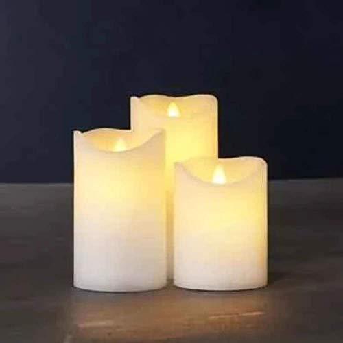 Sirius Home 80016 Elektrische LED-Kerzen, Weiß, 3Stück, benötigt AA-Batterien, 150mm