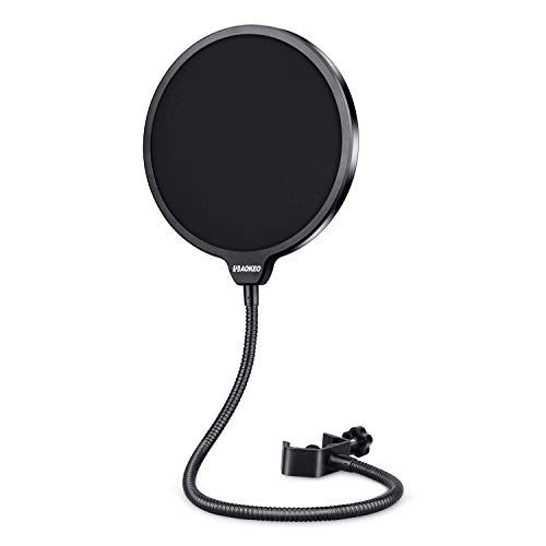 Aokeo Professional Microphone Pop Filter Mask Shield For Blue Yeti and Any Other...