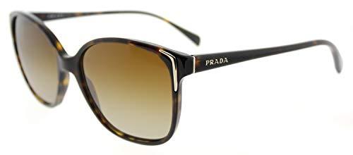 Prada Damen 0Pr01Os 2Au6E1 55 Sonnenbrille, Braun (Havana/Polar Brown Gradient)