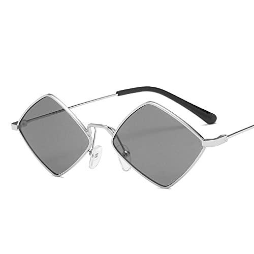 ShZyywrl Gafas De Sol De Moda Unisex Chic Small Vintage Sunglasss Mujeres Hombres Aleación Espejo Gafas De Sol Hombres Tonos Irregulares Oculos Feminino 5