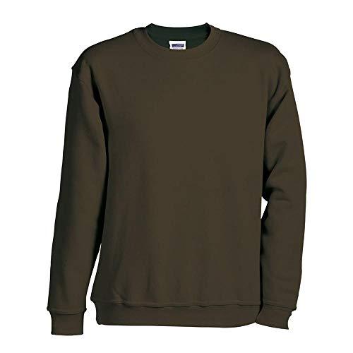 JN-0.40 James+Nicholson Herren Sweatshirt (auch in Übergrößen - bis Größe 5XL), Carbon , Gr. 3XL 3XL,Carbon