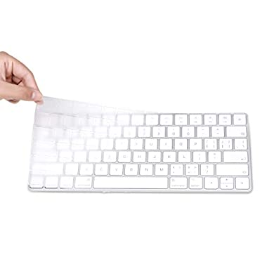 3 Pack Fully Covered Flat Style Easily Sanitized 0.025mm Wipeable Superb Tactile Feeling Waterproof Anti-Dust Keyboard Cap Cover for Apple Wireless Magic Keyboard with Numeric Hospital//Dentist Use