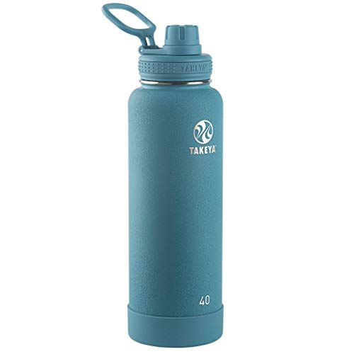 Takeya 51182 Actives Insulated Stainless Steel Water Bottle with Spout Lid, 40...