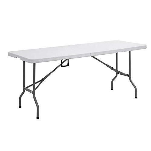 ZR Camping und praktischer Klapptisch Langer Tisch, faltbar tragbar mit Mehrzwecktisch, tragbarer Picknicktisch im Freien, weiß
