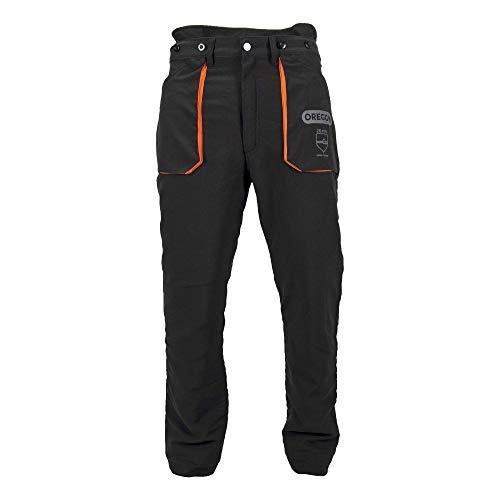 Oregon Yukon - Pantalones de Protección Tipo A Clase 1 (20m/s), pantalones ligeros para motosierra/trabajo/exterior, Negros, Talla XL