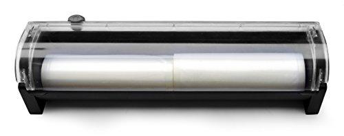 HENDI Halterung für Vakuumrollen, für HENDI 975374 Vakuumiergerät, Vakuum-Verpackungsmaschine, geeignet für Rollen bis maximal: ø100x400mm, 487x122x(H)107mm, ABS Kunststoff