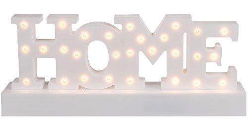 Bada Bing LED Schriftzug HOME Weiß Warmweiß Buchstaben Licht Deko Geschenk 39