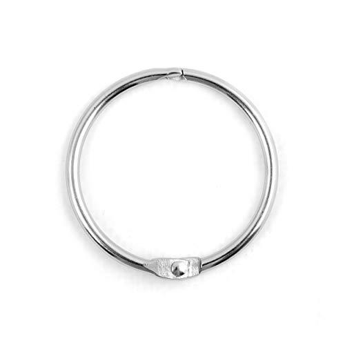 Spirella Duschvorhangringe 12 Stück Chrom Ringo Small - Passend für alle gängigen Duschvorhangstangen Silber gebürstet