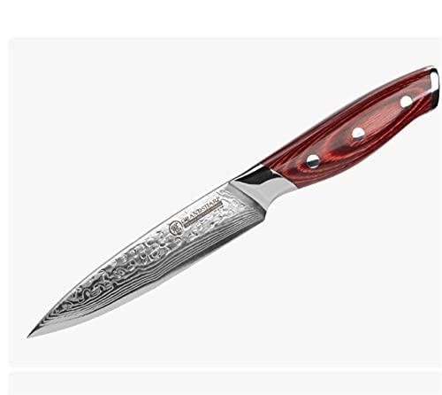 5 pulgadas Damasco Cuchillo de cocina Cuchillo de utilidad VG10 Japonés Damasco Steería Chef Cocina Herramientas de cocina Caja de regalo (Kitchen Knife Size : 5 inches)