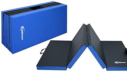 EYEPOWER Colchoneta para Volteretas RG20 200x100x8cm Espesa Plegable Azul-Negro