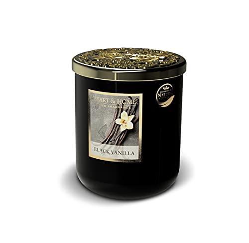 Heart & Home - Vela perfumada (jarra grande, 340 g, aroma a vainilla negra)