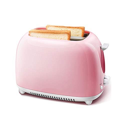 WANGYIYI Tostadora eléctrica automática 2 rebanadas Tootes Toaster Horneado Calentador Mini Sandwich Desayuno Máquina de Desayuno 5-Velocidad Ajuste Máquina de Pan