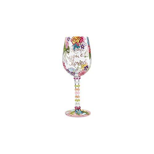 Enesco 6001349 Lolita Mother You are Loved Weinglas, handbemalt, 425 ml, mehrfarbig