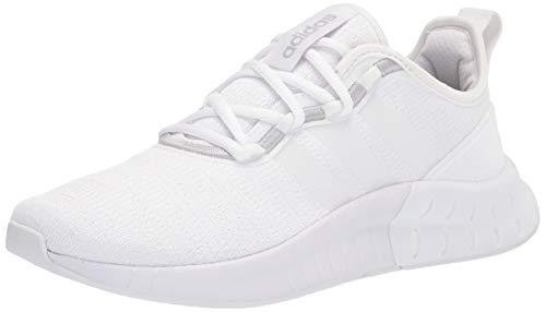adidas Women's Kaptir Super Running Shoe, White/White/Black, 6