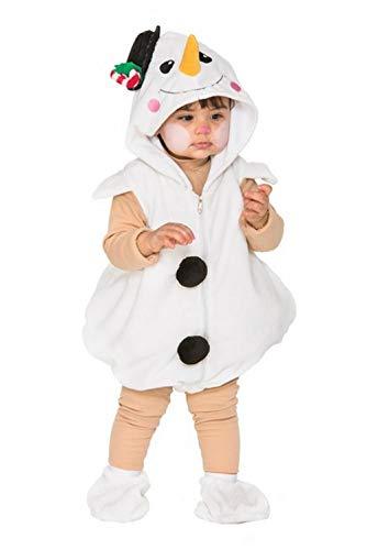 Fyasa 706497-TBB - Disfraz de muñeco de nieve para 1 a 2 años, multicolor, pequeño