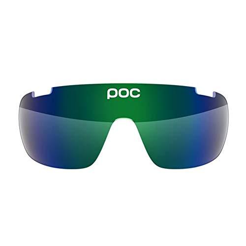 POC DO Half Blade Sonnenbrille, Unisex Erwachsene Einheitsgröße Grün (Green Mirror)