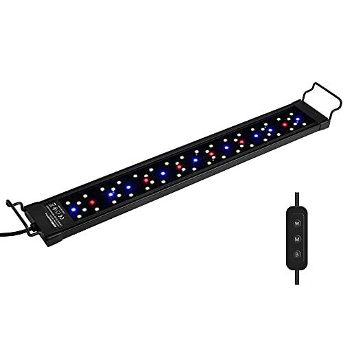 NICREW SkyLED Plus Aquarium Light for Planted Tanks, Full Spectrum Freshwater Fish Tank Light, Light...