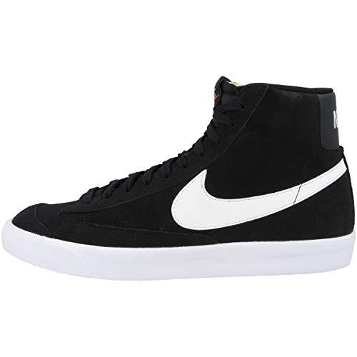 Nike Blazer Mid '77 Suede, Zapatillas de básquetbol Hombre, Black/White-White-Black, 38.5 EU