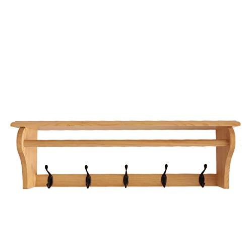 Étagère en bois massif Simple Tenture murale Etanche Protection de l'environnement Rack Salon Chambre Porche Rack De Stockage (Taille : 65 * 15 * 20cm)