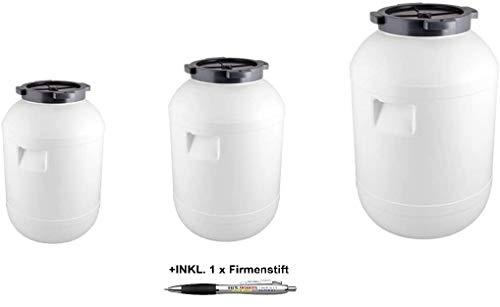 Beste Angebote Kunststofffass 20/30/65L Deckel Gärbehälter Deckelfass Regenfass Tonne Fass (20L)
