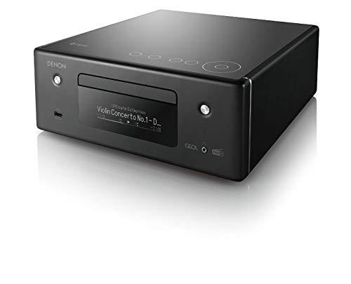 Denon RCD-N11DAB Kompaktanlage, HiFi Verstärker, CD-Player, Internetradio, Musikstreaming, HEOS Multiroom, Bluetooth und WLAN, AirPlay 2, Alexa Kompatibel, 2 Optische TV-Eingänge, DAB+ Radio