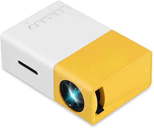 Mini-Portable-LED-projector cadeau for kinderen, familie Projector for filmavond, partij, spel, home cinema, Compatibel met telefoon, USB, PC, DVD, spelconsoles enz. dljyy