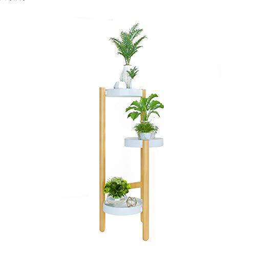XUEZHEN Houten Bloemenstandaard Op de vloer gemonteerde Plant Display Rack, Bloemenplank, Pot Rack, voor Slaapkamer, Woonkamer, Balkon, Tuin