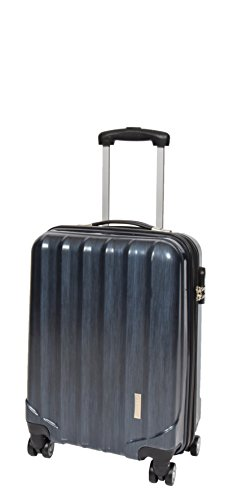 4 Wheels Cabin Size Hand Luggage Built-in Lock Strong Hard Shell Suitcase Travel Bag A403 Navy