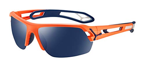 Cébé S'Track M Gafas de Sol, Adultos Unisex, Matt Neon Orange Navy, Large
