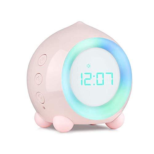 Reloj Despertador Inteligente Aplicación Multifuncional Creativa Altavoz Bluetooth Mini Reloj Digital Luz de Noche para Dormir Luz de Noche para niños.