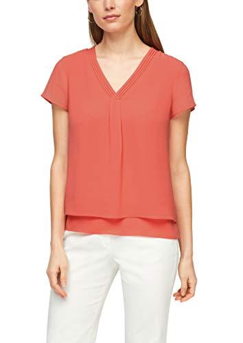 s.Oliver BLACK LABEL Damen 150.10.103.10.100.2100822 Bluse, Flamingo orange, 44