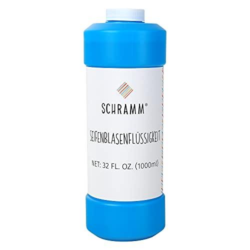 Schramm® 1 litro di Schiuma a Bolle di Sapone Ideale per Le Pistole a Bolle di Sapone liscivia a Bolle di Sapone