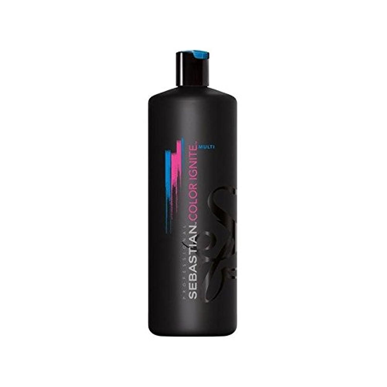 啓示ドーム組み込むセバスチャン?プロカラーマルチシャンプー(千ミリリットル)を発火させます x4 - Sebastian Professional Color Ignite Multi Shampoo (1000ml) (Pack of 4) [並行輸入品]