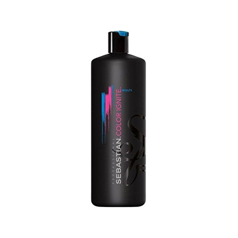 苦八百屋さんサイズセバスチャン?プロカラーマルチシャンプー(千ミリリットル)を発火させます x4 - Sebastian Professional Color Ignite Multi Shampoo (1000ml) (Pack of 4) [並行輸入品]
