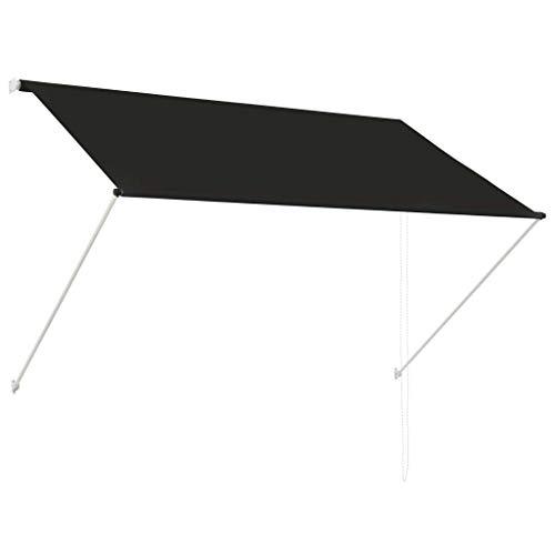 vidaXL Toldo Retráctil 200x150cm Gris Antracita Parasol Ventana Terraza Hogar
