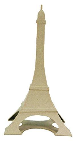 Decopatch–Papel maché (34x 16,5x 16,5cm 32cm Parisino Tower, Color marrón